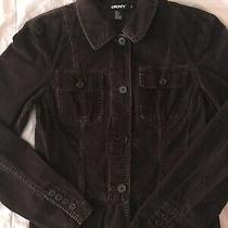 Womens Dkny Brown Corduroy Blazer Donna Karan New York Jacket Size 6 Photo