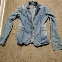 Women's Dkny Jeans Denim Jacket Blue Size Xs Photo
