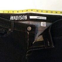 Women's Dkny Jeans Madison Size 12r/r Black 5-Pocket Boot-Cut  Photo