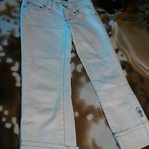 Women's Dkny White Denim Capris. Size 1 Photo
