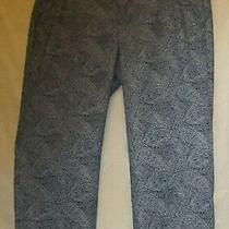 Women's Dockers Cropped Straight Leg Dress Pants Indigo Paisley Size 8 Excellent Photo