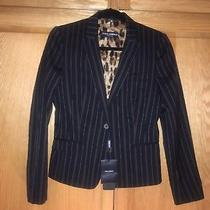 Women's Dolce & Gabbana Black Pinstripe Suit Coat Size 42. Made in Italy Size 42 Photo
