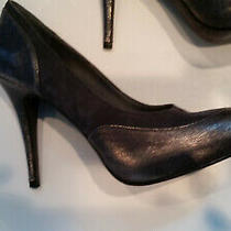 Womens Donald J Pliner Grey Suede With Leather 8n Heels Photo