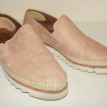 Women's Donald J. Pliner Peach-Blush Leather Millie Espadrille Loafers Us 8.5 Photo