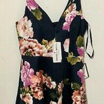 Women's Dress Speechless Navy Blue Blush Floral Spaghetti Strap Size 5 Nwt 69 Photo