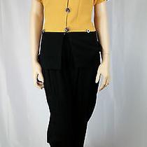Women's Dress Suite Size 7/8 Yellow/gold  Black