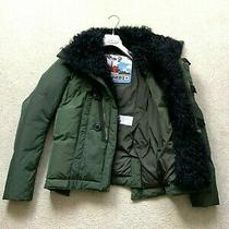 Women's Dsquared2 Misty Mountains Lamb Fur Down Jacket Coat Puffer It 40 Eu 38 S Photo