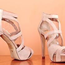 Women's Dv by Dolce Vita Blush Suede High Heel Platform Sandals 7.5 Photo