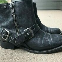 Women's Dv (Dolce Vita) Brand Sabina Black Leather Ankle Booties - Size 6 1/2 Photo