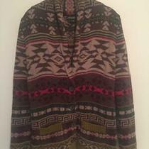 Womens Eddie Bauer 2011 Southwest Aztec Cardigan 100% Cotton Sweater-Small Photo