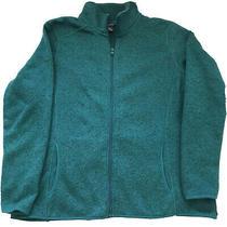 Womens Eddie Bauer Green Zip-Up Jacket/ Sweater Size2xl Photo