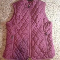 Women's Eddie Bauer Puffer Vest - Small  Purple Tufted. Ked Photo