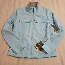Women's Eddie Bauer Water Resistant Softshell Jacket Coat Powder Blue Size L  Photo