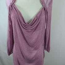 Women's Ella Moss Sz Sm Stretch Sheer Long Sleeve Top Blouse Shirt Photo