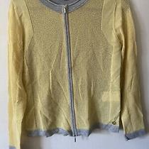 Womens Escada Sweater Zip Up Jacket  Size Medium Photo