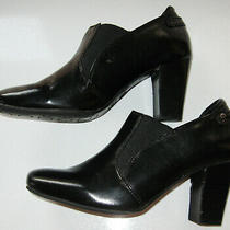 Women's Etienne Aigner Black Rando High Heel Ankle Boots Size 6 1/2 Photo