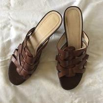 Women's Etienne Aigner Leather Sandals 9m Photo