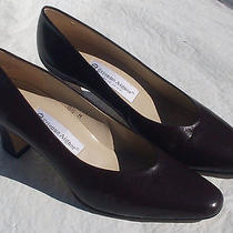 Women's Etienne Aigner Taylor Brown Leather Classic Pumps Size 8.5m Photo