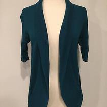 Women's Express 3/4 Sleeve Cardigan Sweater Turq-Sz Xs Photo
