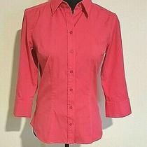 Women's Express 3/4 Sleeve Dress Shirt Size 8- Pink Photo