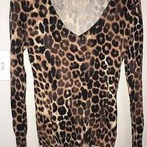 Women's Express Animal Print Sweater Size Small Photo