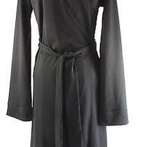 Women's Express Black 100% Polyester Knee-Length Wrap Dress Size 7/8 Photo