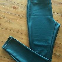 Women's Express Black Pleather Pants. Size large.very Cool Trendy & Comfortable Photo