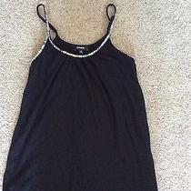 Women's Express Black Sequin Tank Top Size Xs Photo