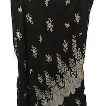 Womens Express Black Skirt With White Flowers Size Medium Photo