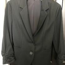 Women's Express Black Suit Jacket 3/4 Sleeve Size 4 Photo