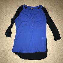 Women's Express Blue Black Top Size S Photo