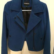 Women's Express Blue Coat Jacket Xs Photo