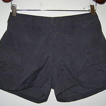 Women's Express Blue Nylon Cargo Shorts Size S Photo