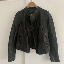 Womens Express Brown Faux Leather Jacket Size Xsmall Photo