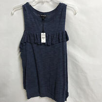 Women's Express Cold Shoulder Sweater Size Large Blue Long Sleeve Photo