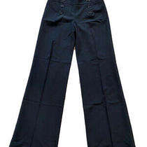 Women's Express Design Studio Back Wide Leg Cuffed Dress Pants Slacks Sz 0  Photo