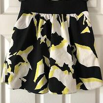 Women's Express Design Studio Black Yellow White Watercolor Skirt Xs Pockets Photo