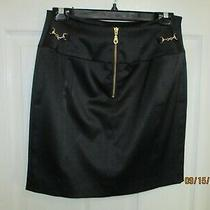 Women's Express Design Studio Size 6 - Little Black Skirt - Leather-Look Photo