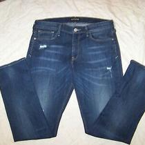 Women's Express Distressed Stretch Jeans - Size 14 - Cropped Skinny Photo