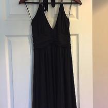 Women's Express Dress Halter Black Medium M Photo