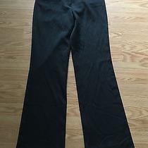 Women's Express Editor Black Pinstriped Dress Pants Sz 2r - Cute Photo