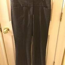 Womens Express Editor Dark Gray With Silver Pinstripes Dress Pants Size 8 Photo