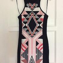 Women's Express Geometric Graphic Print Fitted Tank Dress Size Xs Photo