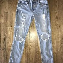 Womens Express Girlfriend Distressed Jeans - Size 2 Photo