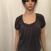 Women's Express Gray  Blouse Top Shirt Size Xs Extra Small Photo