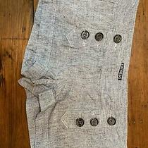 Womens Express Grey Linen and Cotton Shorts Sz 6 Photo