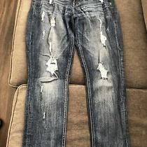 Women's Express Jeans Size 6 Cropped Leggings Mid Rise Rn 56842 Used Photo