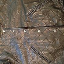 Women's Express Leather Jacket Avenue De l'opera High End Diamond Size Medium Photo