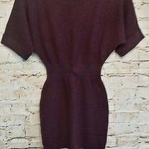 Women's Express Light Knit Sweater Dress Size Xs Short Sleeve Mini Sparkles Euc Photo