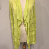 Women's Express Long Sleeve Stripped Sheer Cardigan Sweater Yellow-Sz Xs Photo